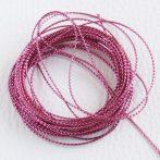 Lurex (metálfényű műszálas) zsinór 0,6mm vastagságú - f20 rózsaszín - 5m