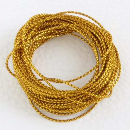 Lurex (metálfényű műszálas) zsinór 0,6mm vastagságú - f60 arany - 5m