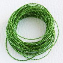 Lurex (metálfényű műszálas) zsinór 0,6mm vastagságú - f68 zöld - 5m