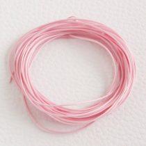 Viaszolt műszálas zsinór kb. 0,7mm vastagságú - k15 világos rózsaszín - 5m
