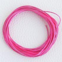 Viaszolt műszálas zsinór kb. 0,7mm vastagságú - k18 élénk rózsaszín - 5m