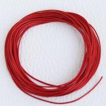 Viaszolt műszálas zsinór kb. 0,7mm vastagságú - k26 piros - 5m