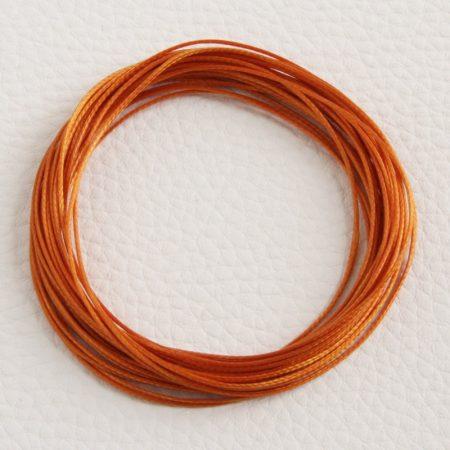 Viaszolt műszálas zsinór kb. 0,7mm vastagságú - k29 narancssárga - 5m