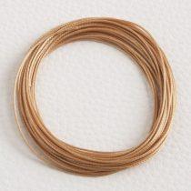 Viaszolt műszálas zsinór kb. 0,7mm vastagságú - k33 mandulabarna - 5m