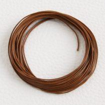 Viaszolt műszálas zsinór kb. 0,7mm vastagságú - k40 őzbarna - 5m