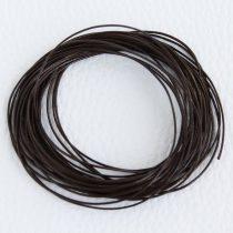 Viaszolt műszálas zsinór kb. 0,7mm vastagságú - k44 sötétbarna - 5m