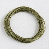 Viaszolt műszálas zsinór kb. 0,7mm vastagságú - k72 olívazöld - 5m