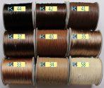 Viaszolt műszálas zsinór kb. 0,7mm vastagságú - k41 /m