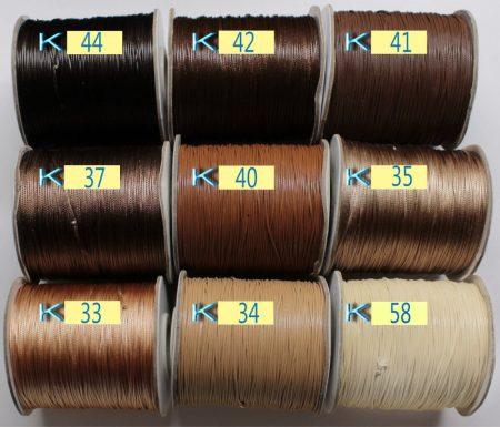 Viaszolt műszálas zsinór kb. 0,7mm vastagságú - k44 /m