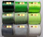Viaszolt műszálas zsinór kb. 0,7mm vastagságú - k56 fehér /m