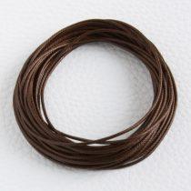 Viaszolt műszálas zsinór kb. 1mm vastagságú - k42 sötétbarna - 5m
