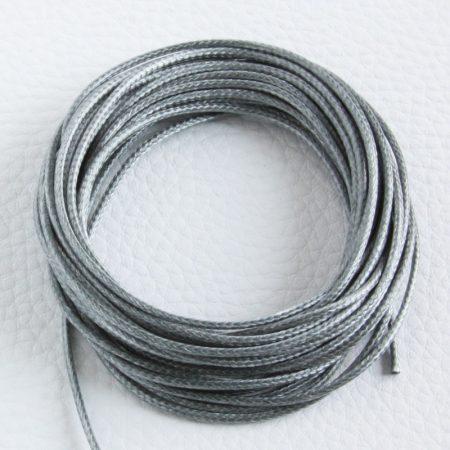 Viaszolt műszálas zsinór kb. 1,5mm vastagságú - k51 szürke - 5m