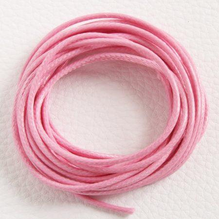 Viaszolt műszálas zsinór kb. 2mm vastagságú - k17 rózsaszín - 3m