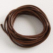 Viaszolt műszálas zsinór kb. 2mm vastagságú - k39 barna - 3m