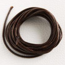 Viaszolt műszálas zsinór kb. 2mm vastagságú - k43 sötétbarna - 3m