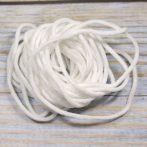 Laza kalapgumi maszkhoz 2,5-3mm vastagságú - fehér - 4m