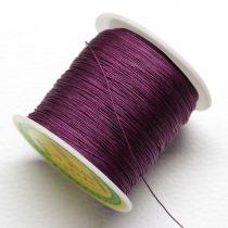 Műselyem shamballa zsinór 0,4mm vastagságú - padlizsán lila (13) - kb. 130m