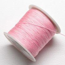Műselyem shamballa zsinór 0,4mm vastagságú - rózsaszín (17) - kb. 130m