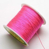 Műselyem shamballa zsinór 0,4mm vastagságú - pink (19) - kb. 130m