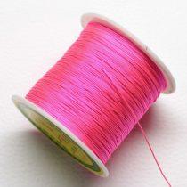 Nylon shamballa zsinór 0,4mm vastagságú - pink (19) - kb. 130m