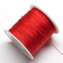 Műselyem shamballa zsinór 0,4mm vastagságú - piros (26) - kb. 130m