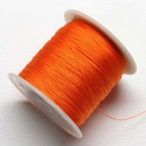 Műselyem shamballa zsinór 0,4mm vastagságú - sötét narancssárga (29) - kb. 130m