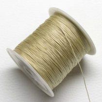 Nylon shamballa zsinór 0,4mm vastagságú - homokszínű (36) - kb. 130m