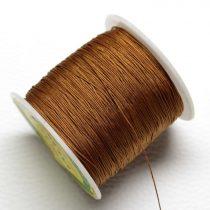 Műselyem shamballa zsinór 0,4mm vastagságú - vörösesbarna (40) - kb. 130m