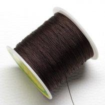 Műselyem shamballa zsinór 0,4mm vastagságú - sötétbarna (44) - kb. 130m