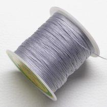 Nylon shamballa zsinór 0,4mm vastagságú - szürke (50) - kb. 130m