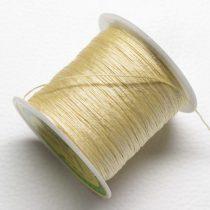 Műselyem shamballa zsinór 0,4mm vastagságú - vaníliasárga (58) - kb. 130m