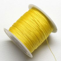 Nylon shamballa zsinór 0,4mm vastagságú - napsárga (60) - kb. 130m