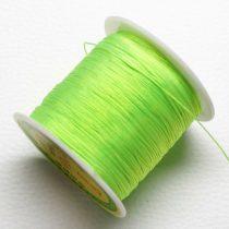 Műselyem shamballa zsinór 0,4mm vastagságú - neonzöld (62) - kb. 130m