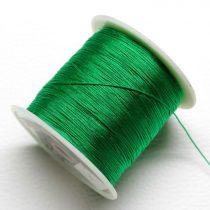 Műselyem shamballa zsinór 0,4mm vastagságú - zöld (68) - kb. 130m