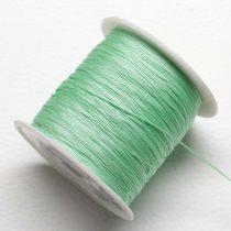 Nylon shamballa zsinór 0,4mm vastagságú - mentazöld (90) - kb. 130m