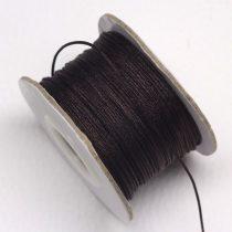 Nylon shamballa zsinór 0,8mm vastagságú - m106 (sötétbarna) - kb. 40m