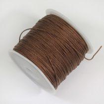 Nylon shamballa zsinór 0,8mm vastagságú - m39 (barna) - kb. 45m
