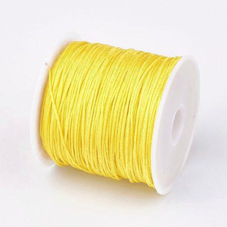 Nylon shamballa zsinór 0,8mm vastagságú - m59 (sárga) - kb. 45m
