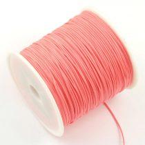 Nylon shamballa zsinór 0,8mm vastagságú - korall rózsaszín (24) - kb. 90m