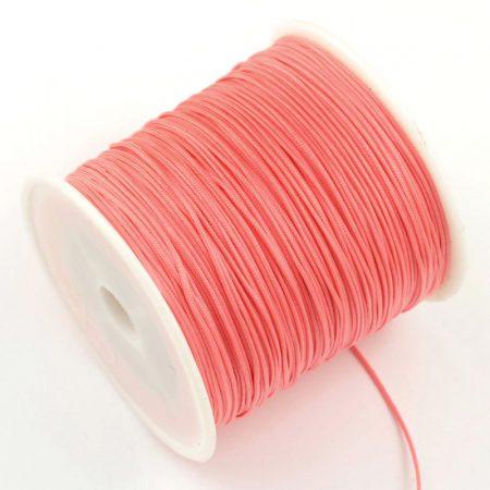 Nylon shamballa zsinór 0,8mm vastagságú - sötét korall rózsaszín (25) - kb. 90m