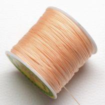Műselyem shamballa zsinór 0,8mm vastagságú - barack színű (27) - kb. 90m