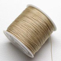 Nylon shamballa zsinór 0,8mm vastagságú - drapp (35) - kb. 90m