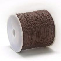 Nylon shamballa zsinór 0,8mm vastagságú - barna (43) - kb. 90m