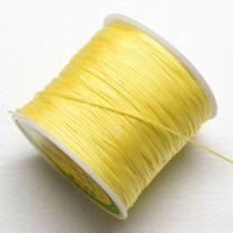 Műselyem shamballa zsinór 0,8mm vastagságú - sárga (59) - kb. 90m