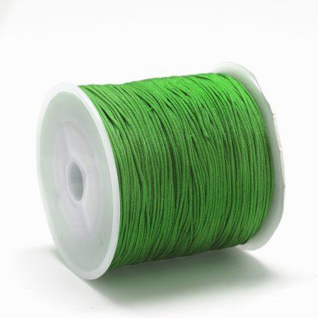 Nylon shamballa zsinór 0,8mm vastagságú - zöld (69) - kb. 90m