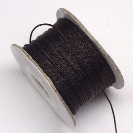 Nylon shamballa zsinór 0,8mm vastagságú - m106 (sötétbarna) /m