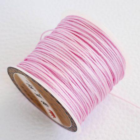 Nylon shamballa zsinór 0,8mm vastagságú - m16 (világos rózsaszín) /m