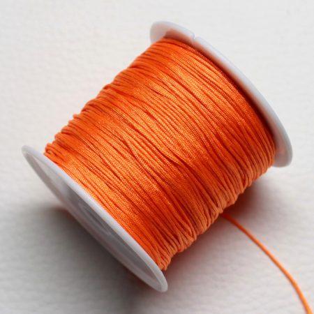 Nylon shamballa zsinór 0,8mm vastagságú - m29 (sötét narancssárga) /m