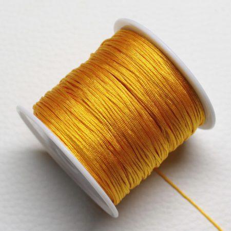 Nylon shamballa zsinór 0,8mm vastagságú - m32 (narancssárga) /m