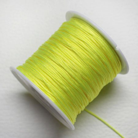 Nylon shamballa zsinór 0,8mm vastagságú - m61 (neonsárga) /m